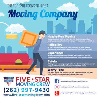 movers in kenosha, kenosha moving company, five-star moving crew