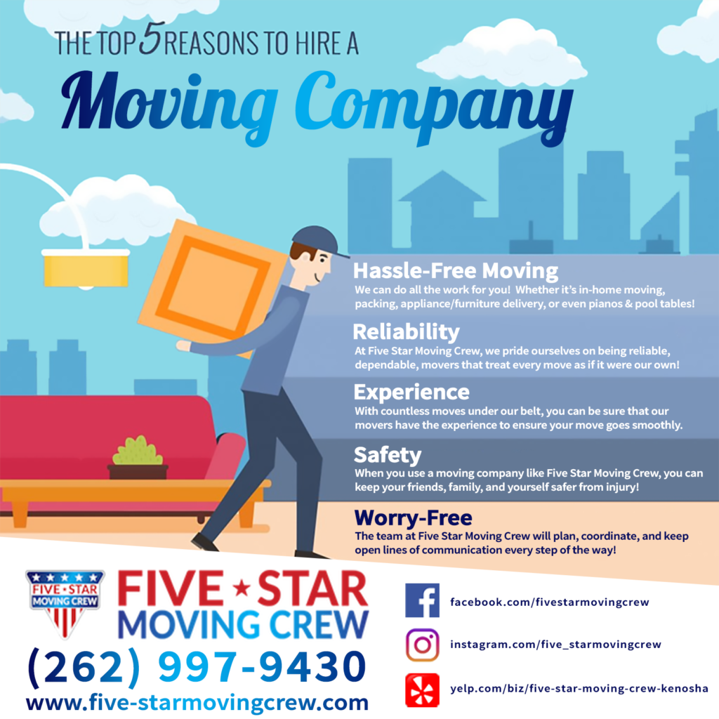 kenosha packers and movers, five star services, moving and packing in kenosha wi